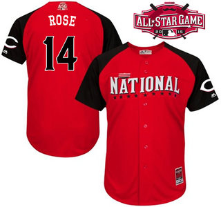 National League Cincinnati Reds #14 Pete Rose Red 2015 All-Star Game Player Jersey