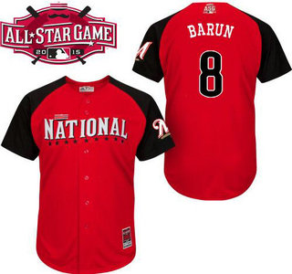National League Milwaukee Brewers #8 Ryan Braun Red 2015 All-Star Game Player Jersey