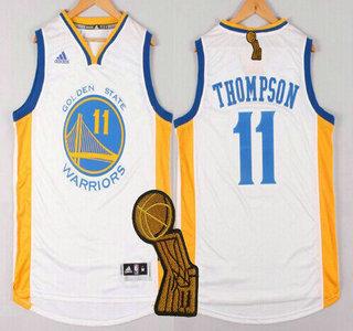 ... Golden State Warriors 11 Klay Thompson Revolution 30 Swingman 2014 New  White Jersey . ... bd779a0a5