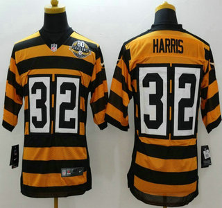 892569250 Nike Pittsburgh Steelers  32 Franco Harris Yellow With Black ...