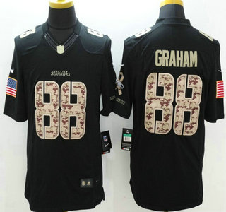 095af34df46e4 Seattle Seahawks  88 Jimmy Graham Nike Salute to Service Nike Black Limited  Jersey