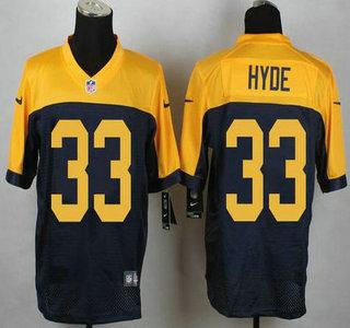 Wholesale NFL Nike Jerseys - Green Bay Packers #4 Brett Favre Navy Blue With Gold NFL Nike ...