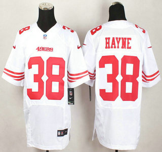 Nike jerseys for wholesale - San Francisco 49ers #38 Jarryd Hayne Nike White Elite Jersey on ...