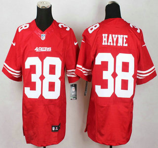 Wholesale NFL Jerseys cheap - San Francisco 49ers #38 Jarryd Hayne Nike Red Elite Jersey on sale ...