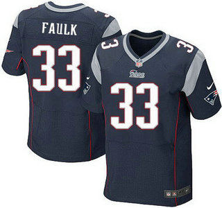 ID104877 New England Patriots #33 Kevin Faulk Navy Blue Retired Player NFL Nike Elite Jersey