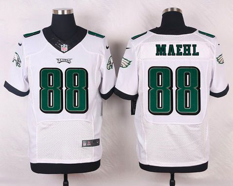 ID104813 Philadelphia Eagles #88 Jeff Maehl White Road NFL Nike Elite Jersey