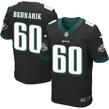 ID104774 Philadelphia Eagles #60 Chuck Bednarik Black Retired Player NFL Nike Elite Jersey