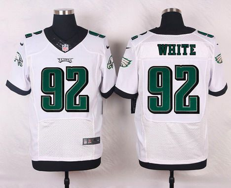 0446f55ce ... Philadelphia Eagles 92 Reggie White White Retired Player NFL Nike Elite  Jersey Mens ...