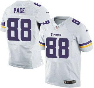 ID104978 Minnesota Vikings #88 Alan Page White Road NFL Nike Elite Jersey