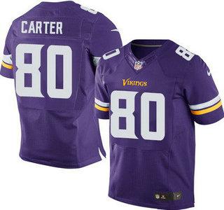 ID104974 Minnesota Vikings #80 Cris Carter Purple Team Color NFL Nike Elite Jersey