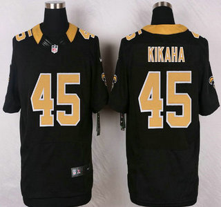 Wholesale NFL Jerseys cheap - New Orleans Saints #45 Hau'oli Kikaha Black Team Color NFL Nike ...