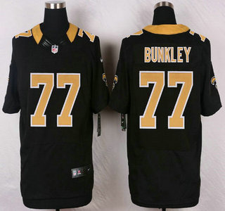ID104951 New Orleans Saints #77 Brodrick Bunkley Black Team Color NFL Nike Elite Jersey