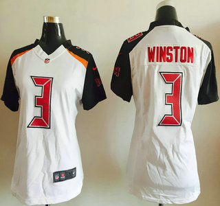 f646bbf8c2b0 ... Womens Tampa Bay Buccaneers 3 Jameis Winston White Road NFL Nike Game  Jersey . ...