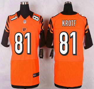 mens cincinnati bengals 81 tyler kroft orange alternate nfl nike elite jersey