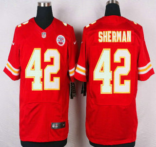 ID104490 Men\'s Kansas City Chiefs #42 Anthony Sherman Red Team Color NFL Nike Elite Jersey