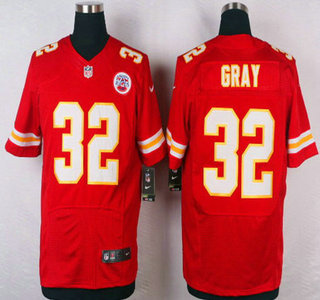 Men s Kansas City Chiefs  32 Cyrus Gray Red Team Color NFL Nike Elite Jersey 23d9ff06d