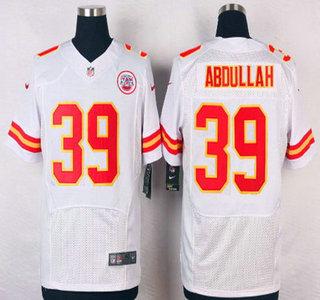 ID104503 Men\'s Kansas City Chiefs #39 Husain Abdullah White Road NFL Nike Elite Jersey