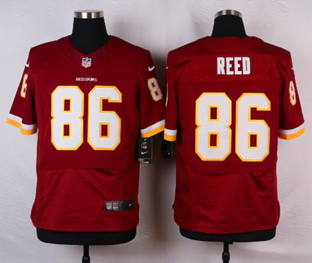 Men\'s Washington Redskins #86 Jordan Reed White Road NFL Nike