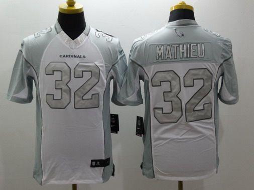 Nike jerseys for sale - Men's Arizona Cardinals #32 Tyrann Mathieu White Platinum NFL Nike ...