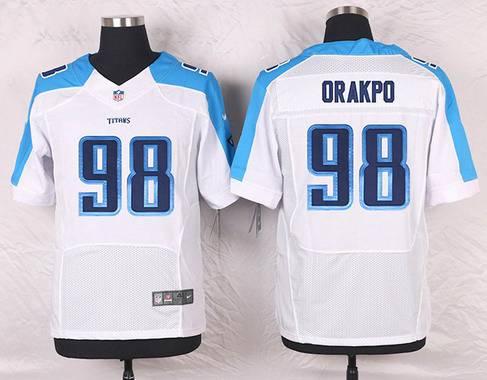 ID104458 Men\'s Tennessee Titans #98 Brian Orakpo White Road NFL Nike Elite Jersey