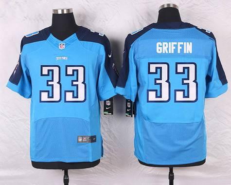 58d77439dba Men s Tennessee Titans  33 Michael Griffin Light Blue Team Color NFL Nike  Elite Jersey