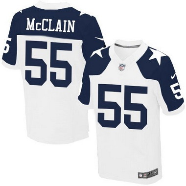 ID104338 Men\'s Dallas Cowboys #55 Rolando McClain White Thanksgiving Alternate NFL Nike Elite Jersey