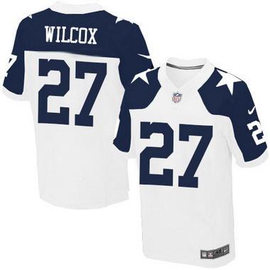 NFL Jerseys Nike - Men's Dallas Cowboys #27 J. J. Wilcox White Thanksgiving Alternate ...