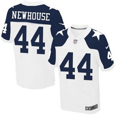 Men s Dallas Cowboys  44 Robert Newhouse White Thanksgiving Retired ... db7cc5036