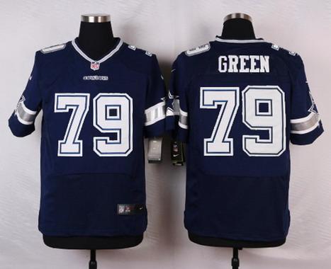 9a3ace859 ... Mens Dallas Cowboys 79 Chaz Green Navy Blue Team Color NFL Nike Elite  Jersey ...