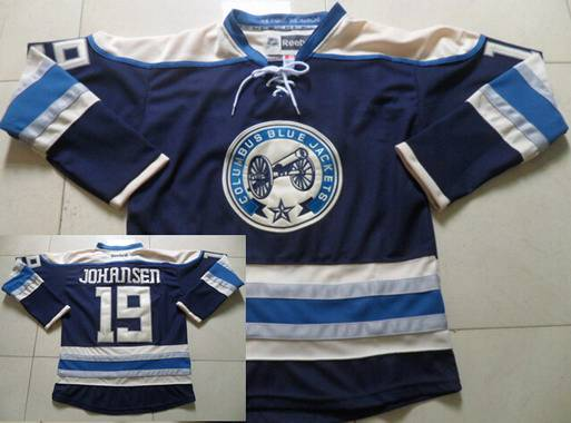 Men's Columbus Blue Jackets #19 Ryan Johansen Navy Blue Alternate Premier NHL Reebok Jersey