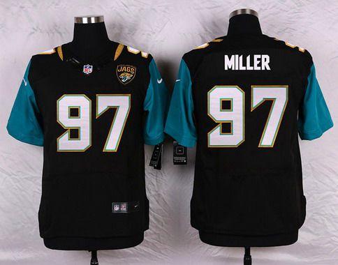 ID104282 Men\'s Jacksonville Jaguars #97 Roy Miller Black Team Color NFL Nike Elite Jersey
