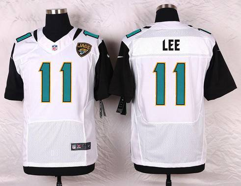 961747d25737 Men s Jacksonville Jaguars  11 Marqise Lee White Road NFL Nike Elite Jersey