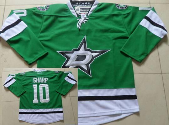 Men's Dallas Stars #10 Patrick Sharp Green Jersey