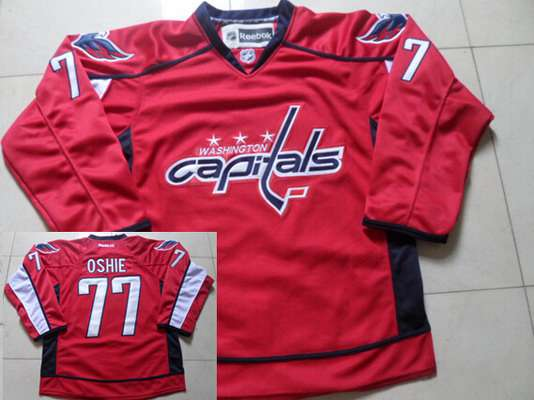 8b2f87ebdc2 ... Mens Washington Capitals 77 T.J. Oshie Red Home NHL Reebok Jersey ...
