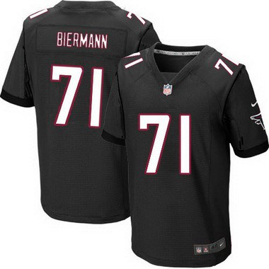 ID104088 Men\'s Atlanta Falcons #71 Kroy Biermann Black Alternate NFL Nike Elite Jersey