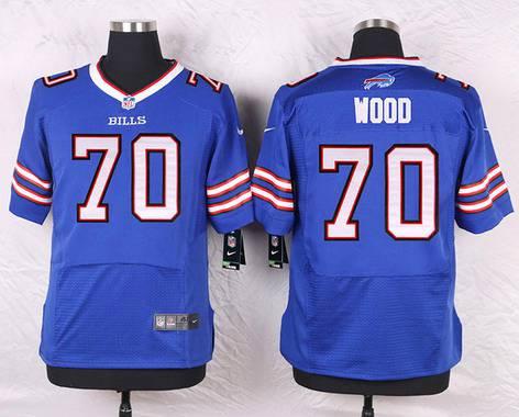 ID104054 Men\'s Buffalo Bills #70 Eric Wood Royal Blue Team Color NFL Nike Elite Jersey