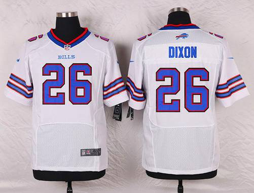 ID104051 Men\'s Buffalo Bills #26 Boobie Dixon White Road NFL Nike Elite Jersey