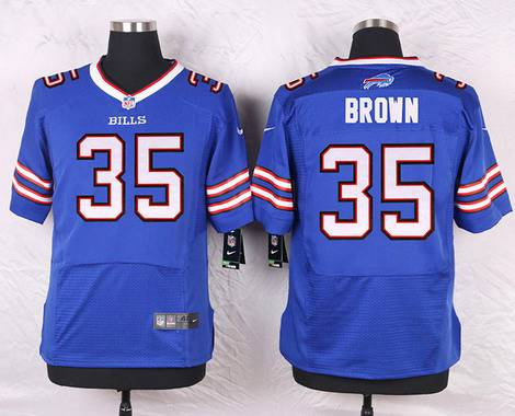 ID104036 Men\'s Buffalo Bills #35 Bryce Brown Royal Blue Team Color NFL Nike Elite Jersey