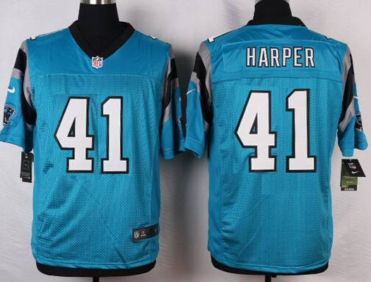 ... Mens Carolina Panthers 41 Roman Harper Light Blue Alternate NFL Nike  Elite Jersey ... 461656501