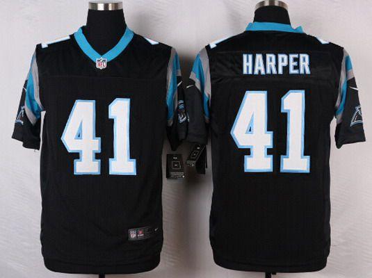 ... new arrivals mens carolina panthers 41 roman harper black team color nfl  nike elite jersey 45360 3e9b15d60