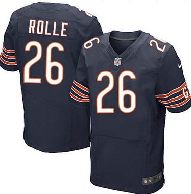 ID103928 Men\'s Chicago Bears #26 Antrel Rolle Navy Blue Team Color NFL Nike Elite Jersey