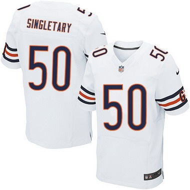 c29cc9446c7 ... Mens Chicago Bears 50 Mike Singletary White Retired Player NFL Nike  Elite Jersey Mens Nike Chicago Bears 99 Dan Hampton Limited Navy Blue ...