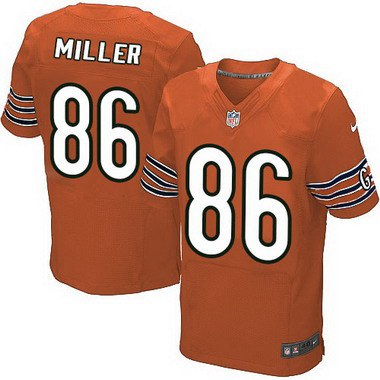 6ac3f7e08 ... jerseys Super Bowl Mens Chicago Bears 86 Zach Miller Orange Alternate  NFL Nike Elite Jersey ...