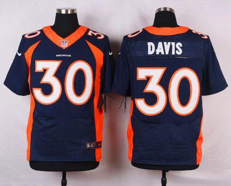 ID103851 Men\'s Denver Broncos #30 Terrell Davis Navy Blue Retired Player NFL Nike Elite Jersey