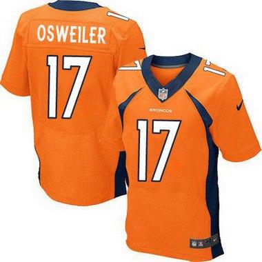 ID103839 Men\'s Denver Broncos #17 Brock Osweiler Orange Team Color NFL Nike Elite Jersey