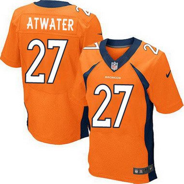 ID103828 Men\'s Denver Broncos #27 Steve Atwater Orange Retired Player NFL Nike Elite Jersey
