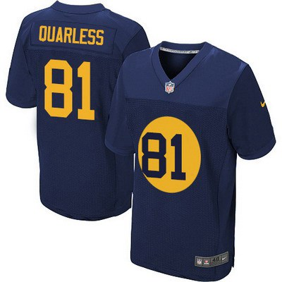 authentic jerseys sale mens green bay packers 81 andrew quarless navy blue alternate nfl nike elite