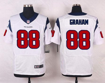ID103718 Men\'s Houston Texans #88 Garrett Graham White Road NFL Nike Elite Jersey