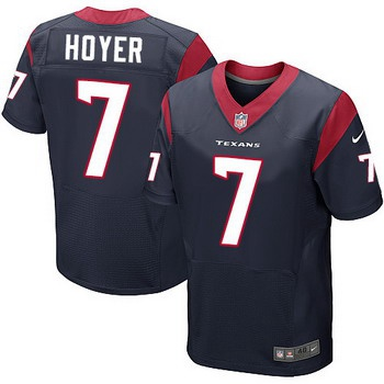 0eced1ac Men's Houston Texans #7 Brian Hoyer Navy Blue Team Color NFL Nike Elite  Jersey