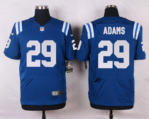 ID103662 Men\'s Indianapolis Colts #29 Mike Adams Royal Blue Team Color NFL Nike Elite Jersey